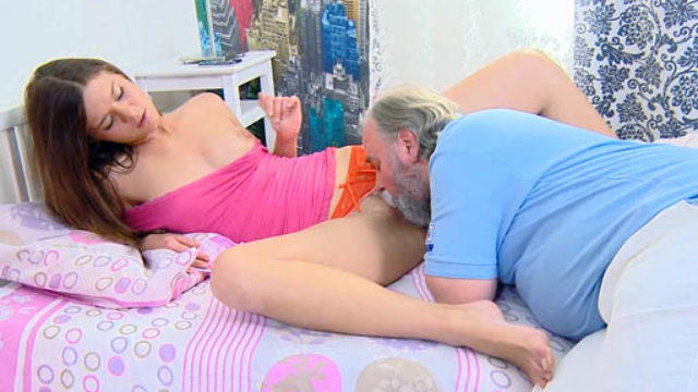 Alyona Has Her Best Got Rid Of And Vulva Licked Through Her Older Guy And Will Get Rainy
