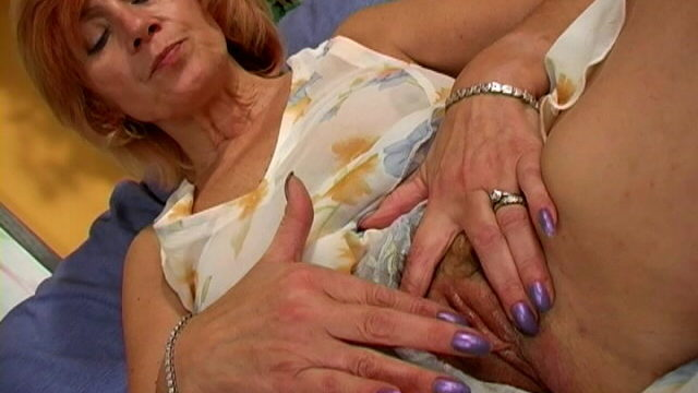 Sexy Granny In Mini Get Dressed Mademoiselle Touching Her Frame With Lust