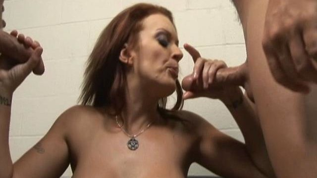 Monica Mayhem Is Helping Those 2 Rock Onerous Dicks Cum