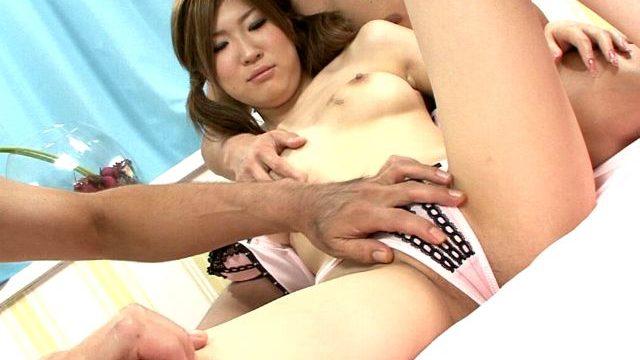 Petite Jap Teenage Nymphet Izumi Koizumi Will Get Cuddly Frame Massaged By Way Of 2 Dudes