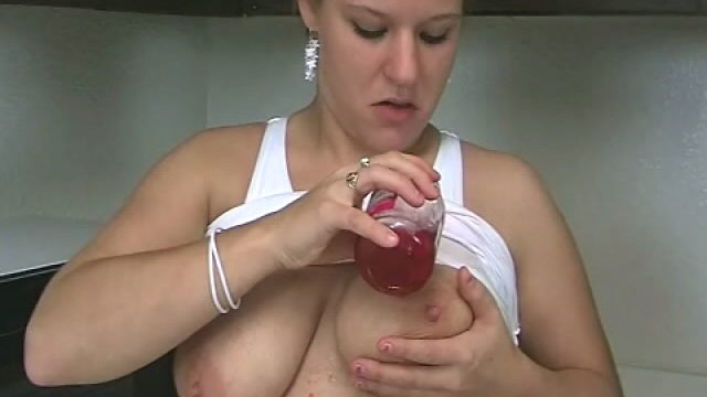 Huge Meloned Blonde Teen Christy Spreading Cherries On Her Horny Physique Within The Kitchen