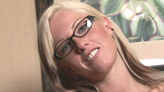Blonde Teen In Glasses Tricia Training Handjob On Digicam