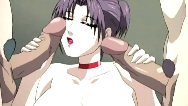 Huge-boobed Anime Porn Doll Takes 2 Penises Simultaneously