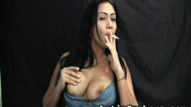 Huge-chested Mommy Smoking Fetish Style