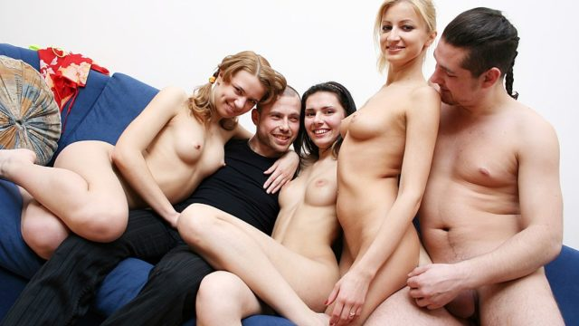 Intercourse-hungry Blonde Babe Enjoys Scorching School Orgy
