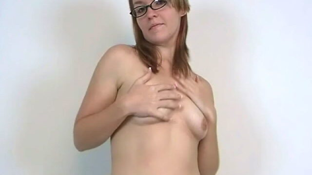 Stockinged Novice Teen Honey In Glasses Heidi Exhibiting Her Perky Tits And Dancing Seductively For You