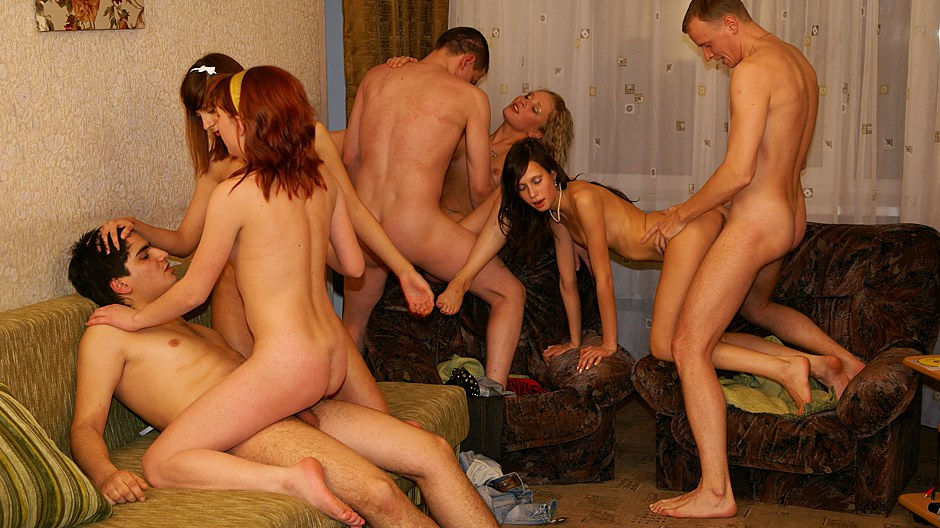 In Reality Mind-blowing Gangbang Birthday Party Coitus Scene