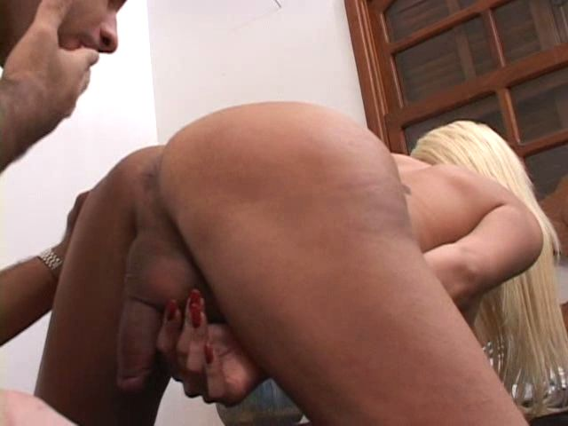 Swish Blond Transgender Princess Nymph Getting Luxurious Lush Booty Munched Firm