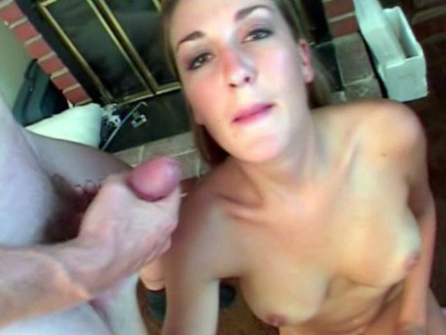 Sugary Light-haired Honey Brie Deepthroating 2 Yam-sized Penises And Getting Facialized