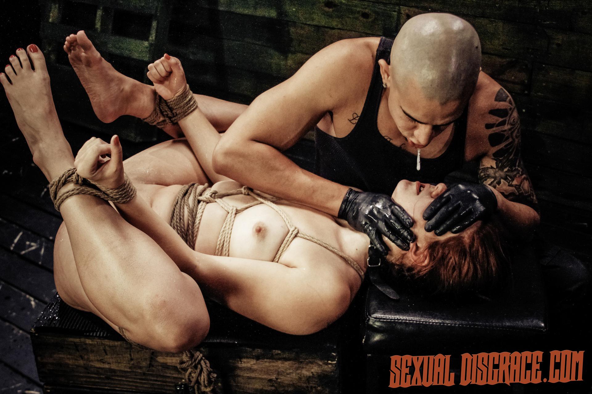 Rose Crimson Tyrell Suffers Strap Restrain Bondage, Fellate Bj, Harsh Buttfuck Fuckfest, Sybian Saddle, Drizzling