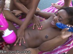 Chanell Middle All Nymph Black Group Sex!