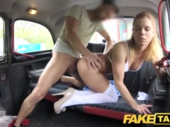 Faux Cab Nurse In Cool Underwear Has Automotive Fuck-a-thon