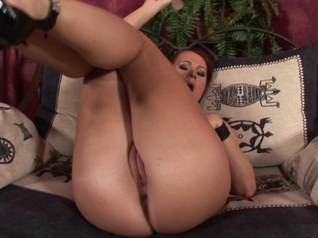 Successful Wifey With Meaty Milk Cans Fumbling Her Bootie And Railing A Meaty Fake Penis