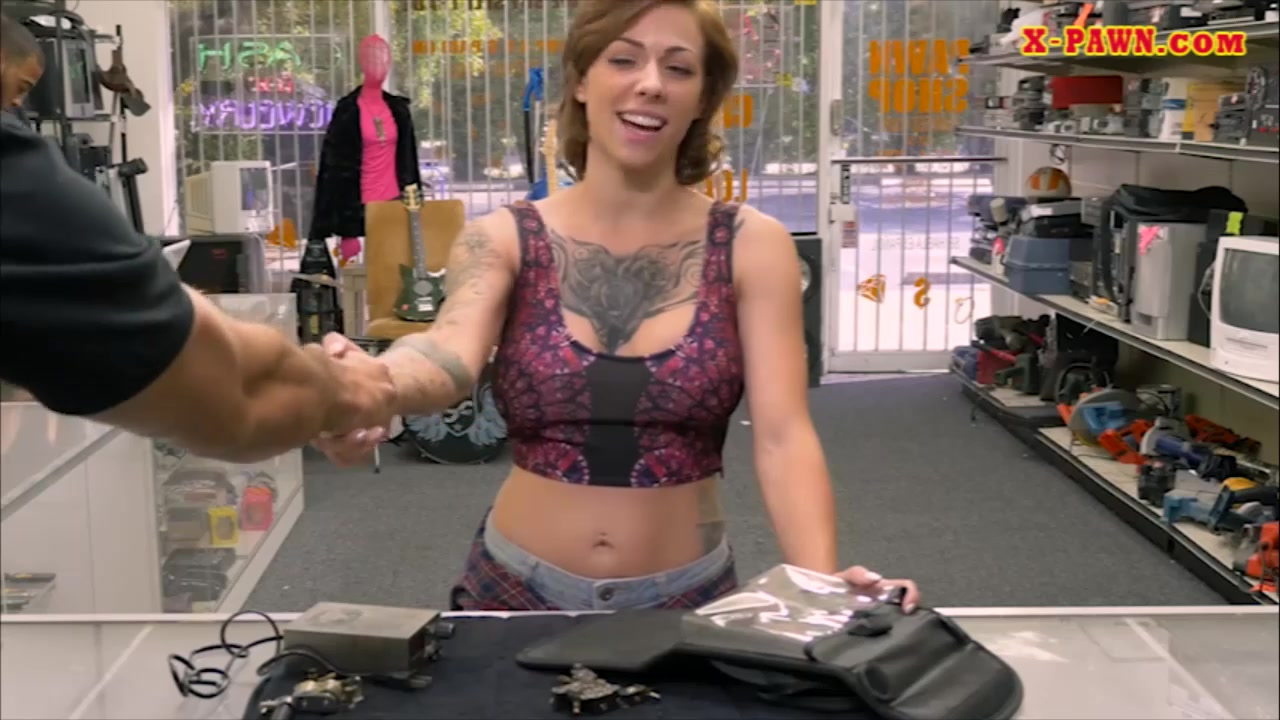 Huge-titted Inked Nymph Rode By Way Of Pawn Man In His Place Of Job