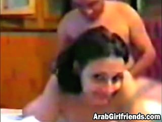 Dark-haired Arab Gf Plowed From Ass