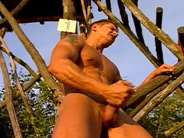 Trio Sexually Aroused Fags Ravaging Their Taut Ass Holes And Tugging Their Hefty Stiffys Outside