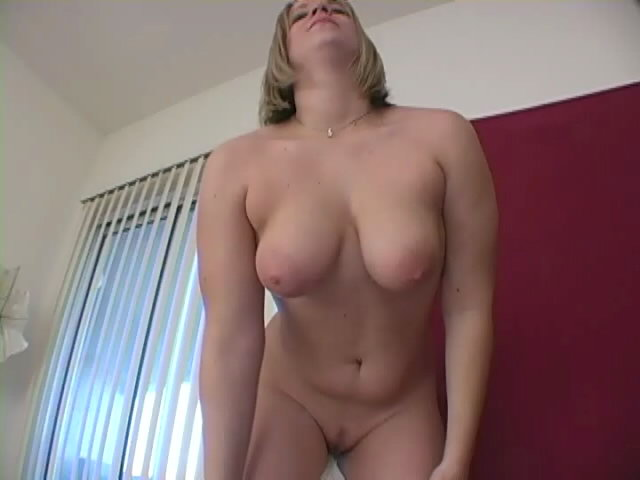 Trashy Blond Female With Stunning Decolletage Adriene Unclothes And Offers Hj