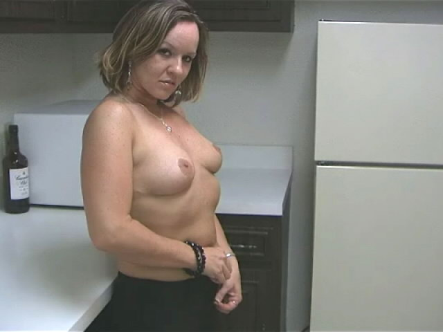 Sensual Blonde Wifey Tessa Rubbing Her Wondrous Assets With Eagerness Within The Kitchen
