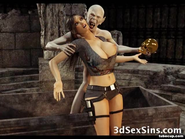 3-d Zombie Romps Lara Croft!