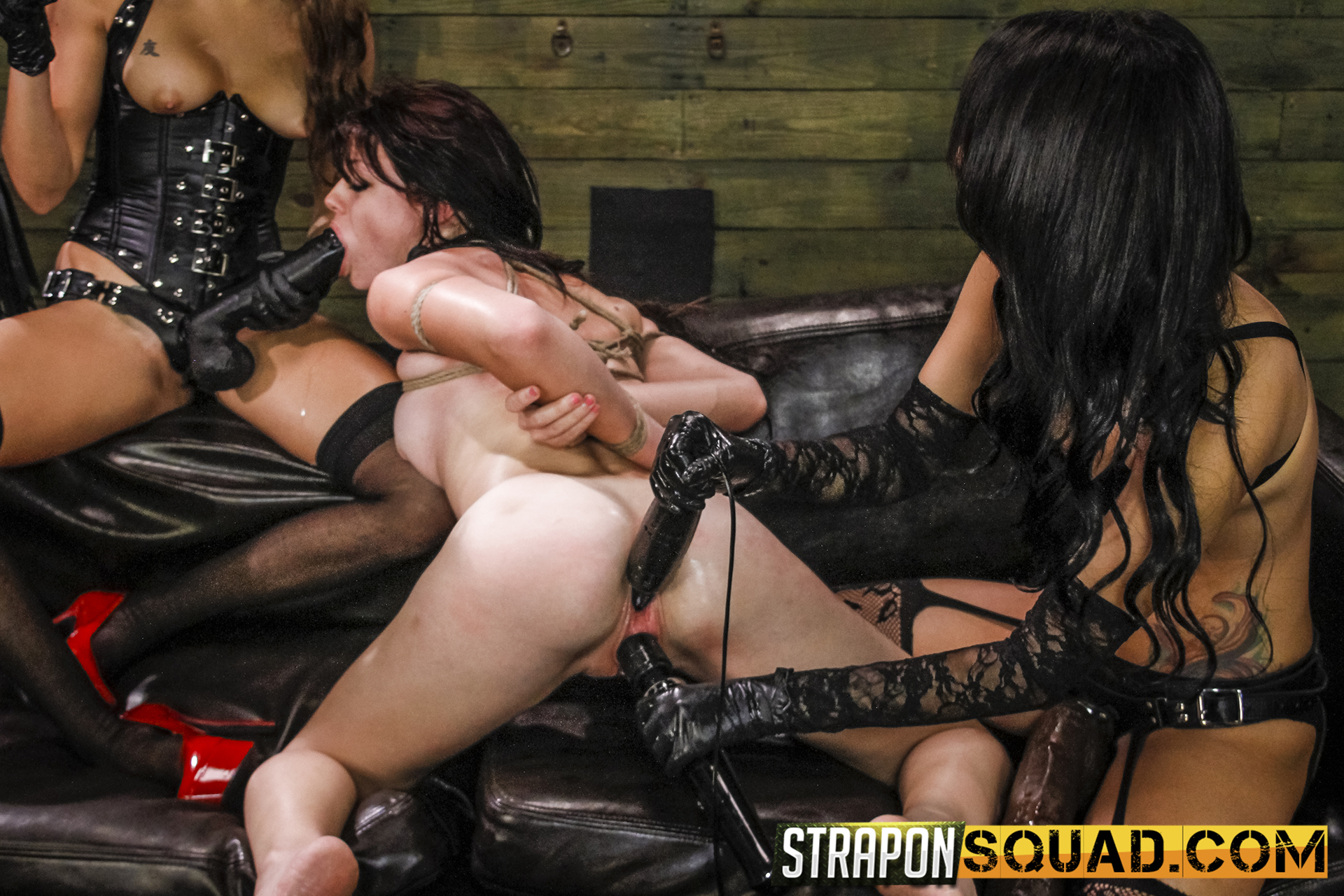 Lezzie Predominance & Sybian Saddle 3 Way With Kaisey Dean, Marina Angel, Esmi Lee