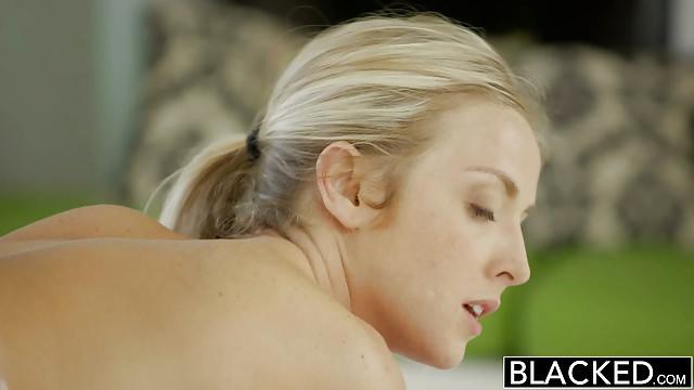 Blacked Uber-sexy Platinum-blonde Karla Kush Likes Touching Bbc