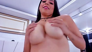 Ultra-cute Latina Frolicking With Her Fake Penis